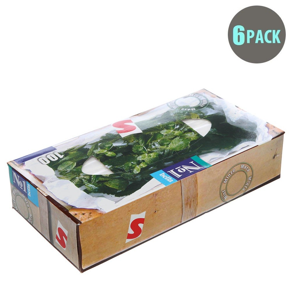 100PC Mint Box Tissues - 6pk