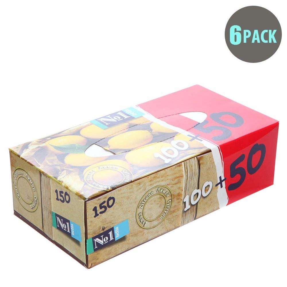 150PC Lemon Box Tissues - 6pk