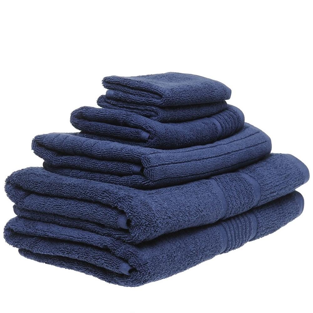 6 Piece Towel Set in Navy