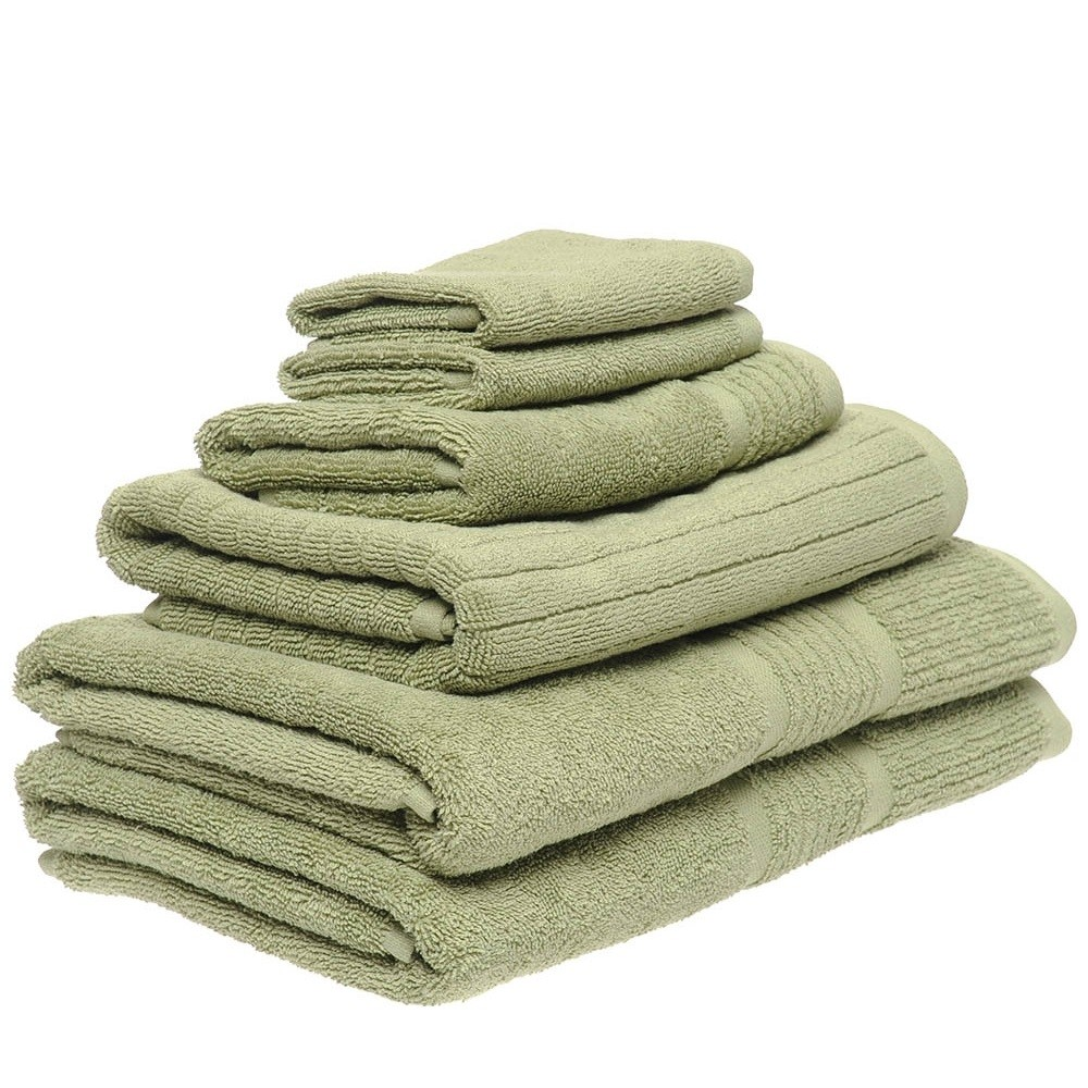 6 Piece Towel Set in Olive