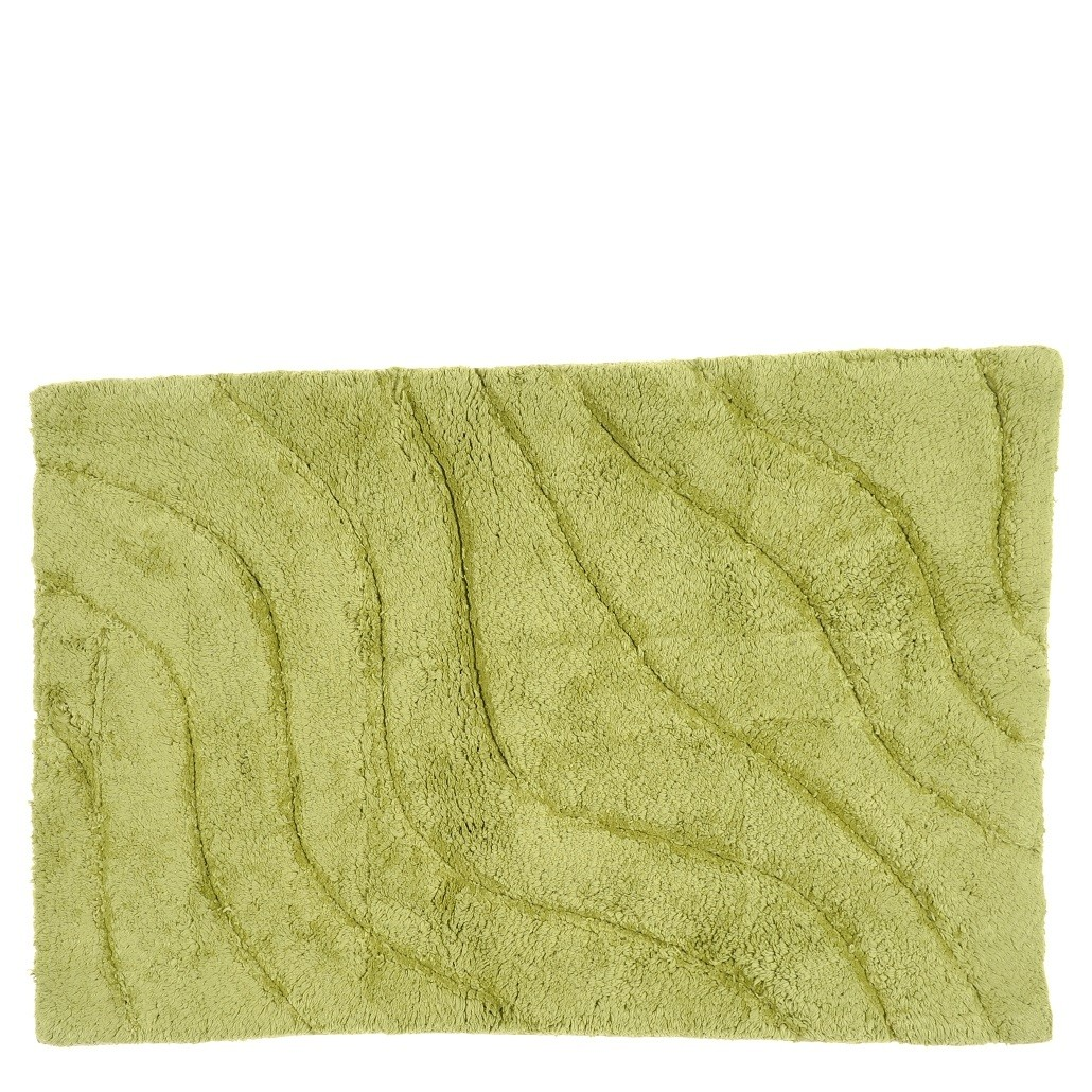 Cotton Tufted Bath Mat in Pine Ripple
