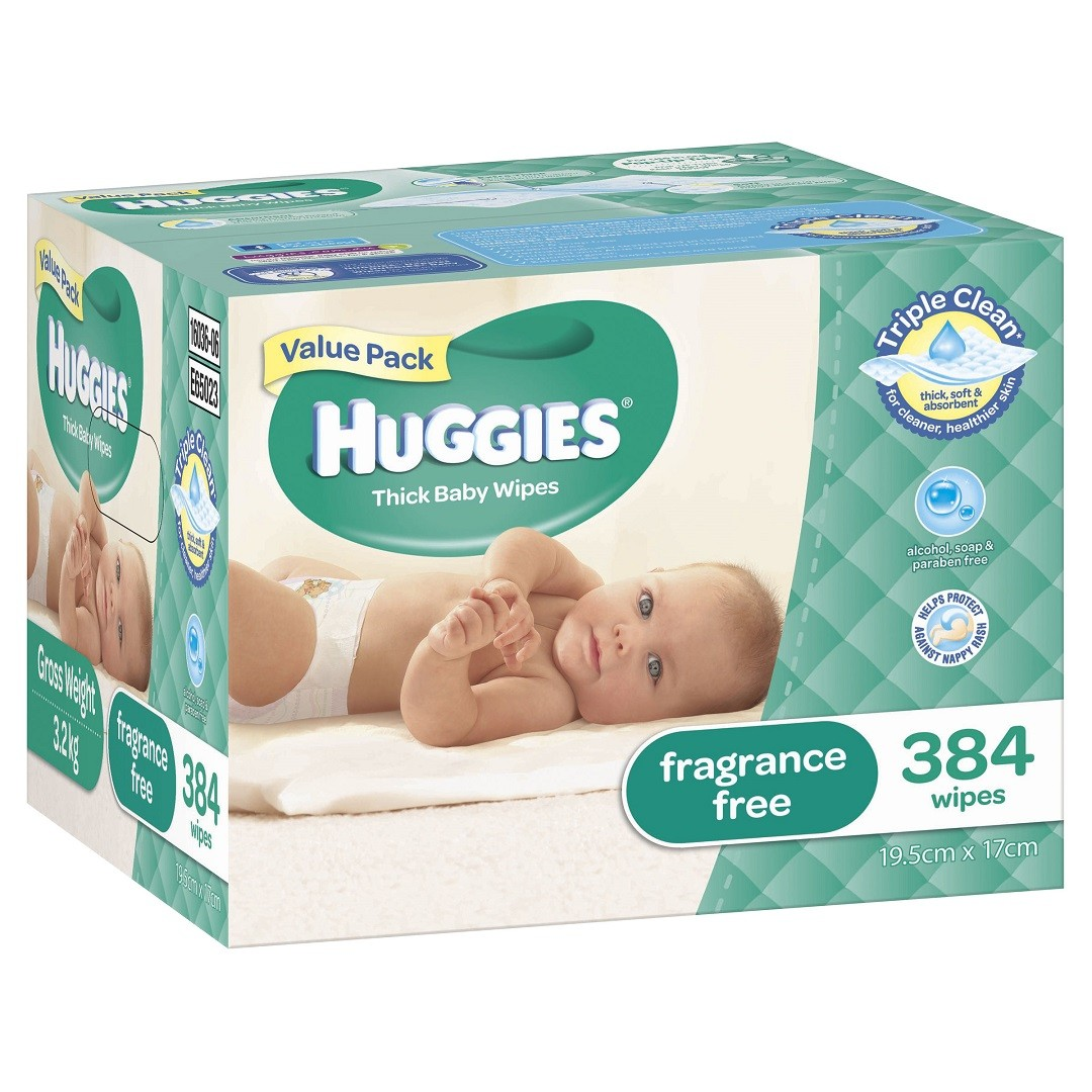 HUGGIES® Baby Wipes Fragrance Free 384pc MEGA PACK
