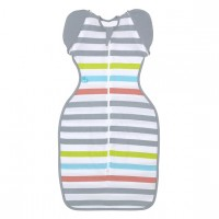 Love To Swaddle UP™ 50/50 Summer Lite Multi Stripe L - 8.5-11kg