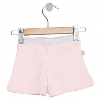 Organic Essentials Shorts - Pink w/Grey Trim