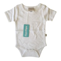 Bamboo Essentials Short Sleeve Onesie in Bright White