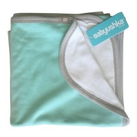Bamboo Essentials Double-Sided Blanket in Teal w/Grey Trim