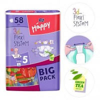 Bella Baby Junior Nappies 12-25kg BIG PACK 58pc