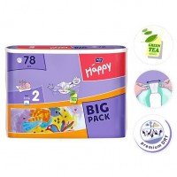 Bella Baby Mini Nappies 3-6kg BIG PACK 78pc