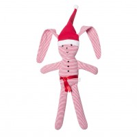 Bebe by Minihaha Christmas Floppy Rabbit Santa Rattle