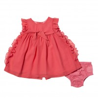 Bebe by Minihaha Special Occassions Bow Front Dress W Frills