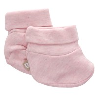Babyushka Organic Essentials Booties in Pink Marle
