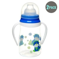 2pk Soft Spout Blue Dino Non-Spill Sippy Cup With Handle