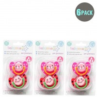 6-Pack Girls BPA Free Soothers 6m+