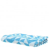 Tile Print Towel in Sky
