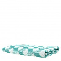 Chevron Print Towel in Ocean