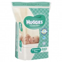 HUGGIES® Baby Wipes Fragrance Free Refills 240pc JUMBO