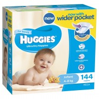 HUGGIES® Nappies Infant 4-8kg Boy 144pk MEGA