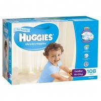 HUGGIES® Nappies Toddler 10-15kg Boy 108pk MEGA