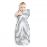 Love To Swaddle UP 50/50 Grey Stripe M - 6-8.5kg
