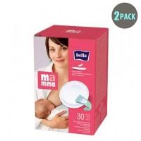 Bella Mamma 30 Self-Adhesive Nursing Pads - 2pk