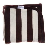 Double Layered Stripe Blanket in Brown