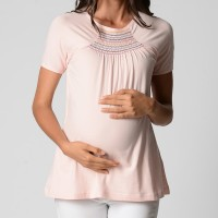 Gathered Detail Top - Blush