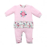 Bebe by Minihaha Erica Flower L/S Frill Romper