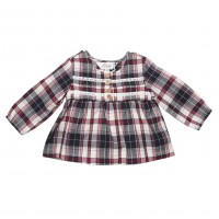 Bebe by Minihaha Olive L/S Plaid Blouse