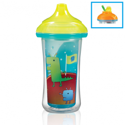 Munchkin Click Lock™ Insulated Flip Straw Cup 266ml Space Design
