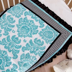 Couture Cot Blanket - Blue