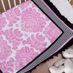 Couture Cot Blanket - Pink