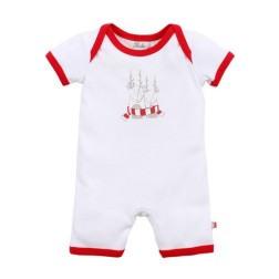 Bebe by Minihaha Christmas Friends Romper