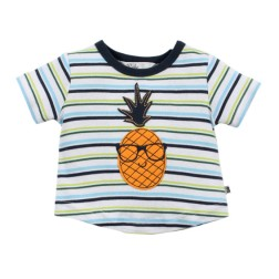Bebe by Minihaha Felix Striped Pineapple Tee