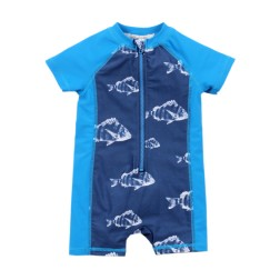 Bebe by Minihaha Jonah UPF 50+ Zip Front Swim Sunsuit