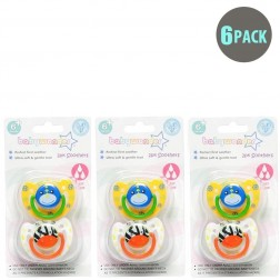 6-Pack Boys BPA Free Soothers 6m+