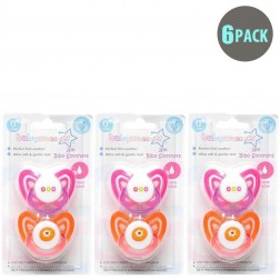 6-Pack Girls BPA Free Soothers 0m+