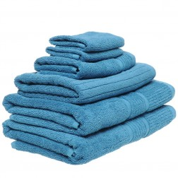 6 Piece Towel Set in Teal