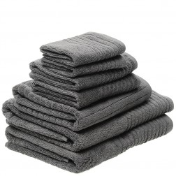 7 Piece Luxury 600GSM Towel Set in Ash