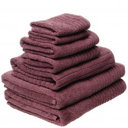 7 Piece Luxury 600GSM Towel Set in Aubergine