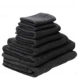 7 Piece Luxury 600GSM Towel Set in Charcoal