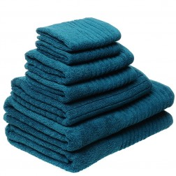 7 Piece Luxury 600GSM Towel Set in Marine