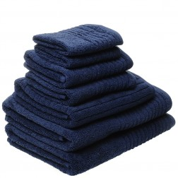 7 Piece Luxury 600GSM Towel Set in Navy