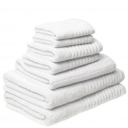 7 Piece Luxury 600GSM Towel Set in White