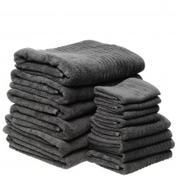 14 Piece Luxury 600GSM Towel Set in Ash