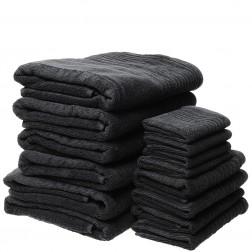 14 Piece Luxury 600GSM Towel Set in Charcoal