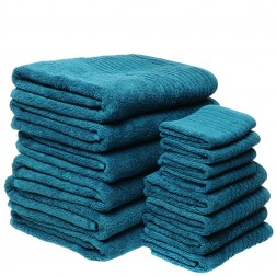 14 Piece Luxury 600GSM Towel Set in Marine
