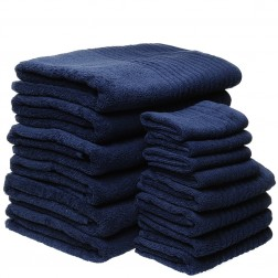 14 Piece Luxury 600GSM Towel Set in Navy