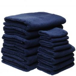 14 Piece Luxury 600GSM Towel Set in Navy