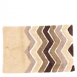 Cotton Tufted Bath Mat in Natural Combo