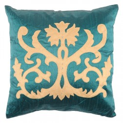 Silk Dupion Collection Cushion in Emerald 40 x 40cm